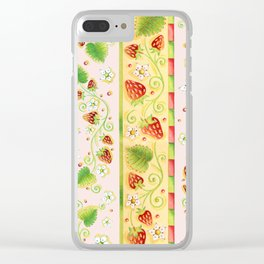Strawberries and Cream Clear iPhone Case