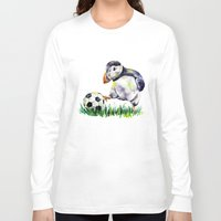 football Long Sleeve T-shirts featuring Football by Anna Shell