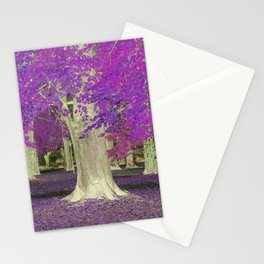 Purple Trees Stationery Cards