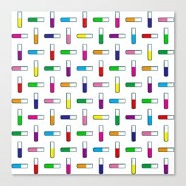 Test tube pattern Canvas Print