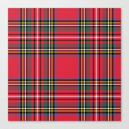 Red & Green Tartan Pattern Canvas Print