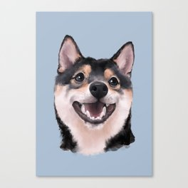 Smiling Shiba Inu Canvas Print