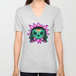 Cute Skull Vampire Unisex V-Neck