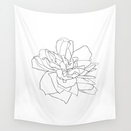 Single rose illustration - Magda Wall Tapestry