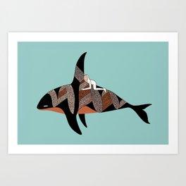 Orcinus Rider Art Print