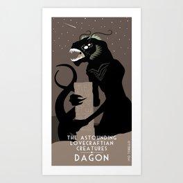 Ivo Torello's Astounding Lovecraftian Creatures - Dagon Art Print