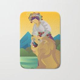 strength tarot card Bath Mat
