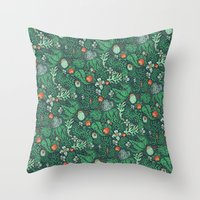 plants Throw Pillows featuring plants by Jordan Walsh