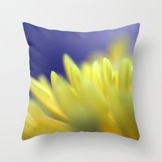 Yellow petals 310 Throw Pillow