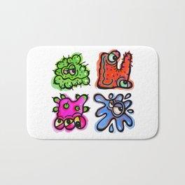 Watercolor Germ Doodles Bath Mat