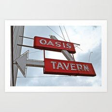 Classic tavern sign Art Print