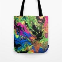 hydra Tote Bags featuring Hydra Goo by SpaghettiLegz