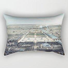 Vue générale de Paris avant 1870 Rectangular Pillow