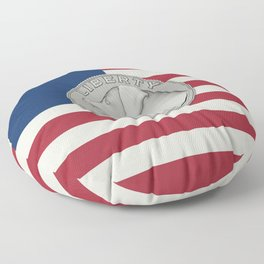 In Dog We Trust - Coin on USA flag Floor Pillow