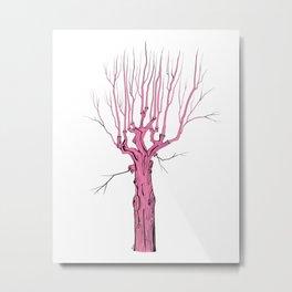 Tree from Romania in Pink  Metal Print
