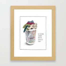 As I do more laundry, nudists seem less crazy Framed Art Print