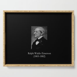 portrait of Ralph Waldo Emerson Serving Tray