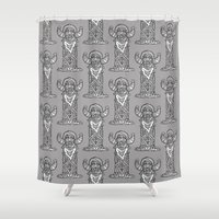 totem Shower Curtains featuring Totem by Crease
