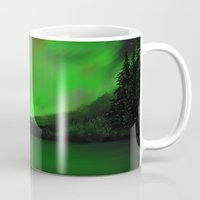 northern lights Mugs featuring Northern Lights by Turul