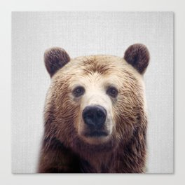 Bear - Colorful Canvas Print