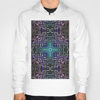 sci fi Hoodies featuring Sci Fi Metallic Shell by Phil Perkins