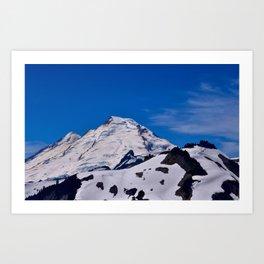 Mt Baker Springtime Art Print