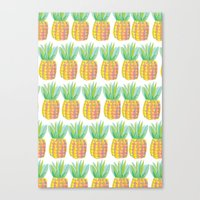 pinapple Canvas Prints featuring Pinapple PePe by Jessica Soparlo