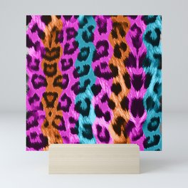 Leopard Print - Tri Color Mini Art Print