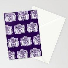I Still Shoot Film Holga Logo - Reversed Deep Purple Stationery Cards