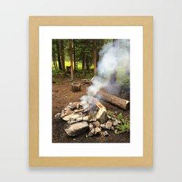 Smokey Campfire Framed Art Print