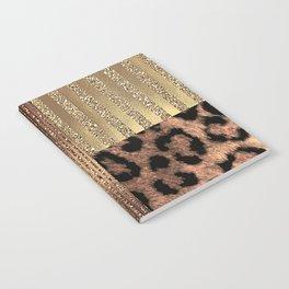 Gold Lioness Safari Chic Notebook