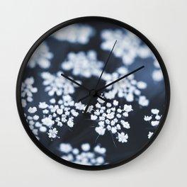 flower - blue lace Wall Clock
