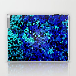 STAINED GLASS BLUES Laptop & iPad Skin