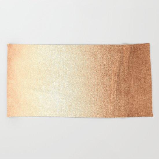 Simply Deep Bronze Amber Beach Towel