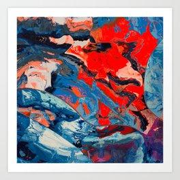 Let frustrations flow Art Print