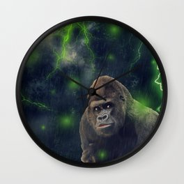 ThunderStorm Gorilla by GEN Z Wall Clock