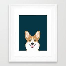 Teagan - Corgi Welsh Corgi gift phone case design for pet lovers and dog people Framed Art Print