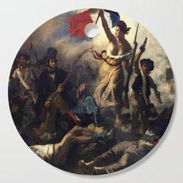 Delacroix – La liberté guidant le peuple-Liberty Leading the People-La Libertad guiando al pueblo Cutting Board