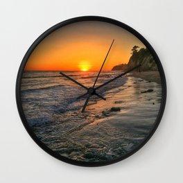Sundown Santa Barbara Wall Clock