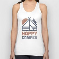 backpack Tank Tops featuring Happy Camper by Zeke Tucker