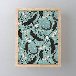 Raven Tarot blue Framed Mini Art Print