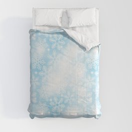 Snowflakes and lights on blue Comforters