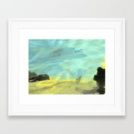 Landscape by a 3 year old Framed Art Print