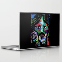 dave grohl Laptop & iPad Skins featuring Self portrait as Dave Grohl by brett66