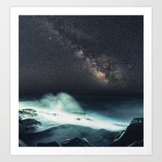Galactic Surf Art Print