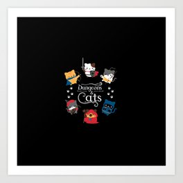 Dungeons And Cats Art Print