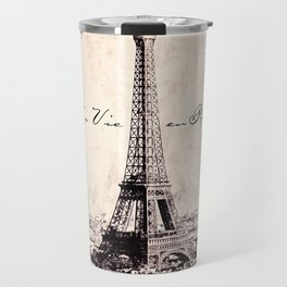 la Vie en Rose vintage Travel Mug