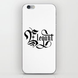 Elegant Lettering Gothic iPhone Skin
