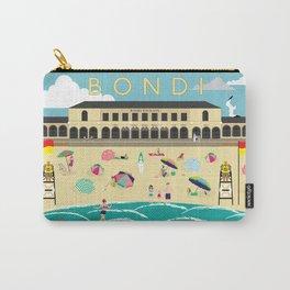Bondi Beach Vintage Style Art Print Carry-All Pouch
