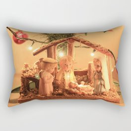 Nativity Scene Rectangular Pillow